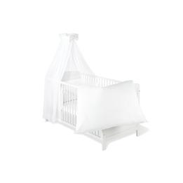 Pinolino - Textilset till Babysäng 4 delar - Voile/Vit