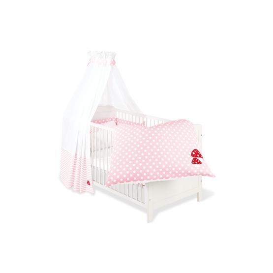 Pinolino - Textilset till Babysäng 4 delar,Glückspilz - Rosa