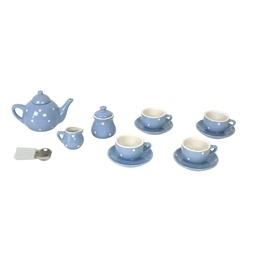 Jabadabado, Porslinservis i väska, 17 delar, blå