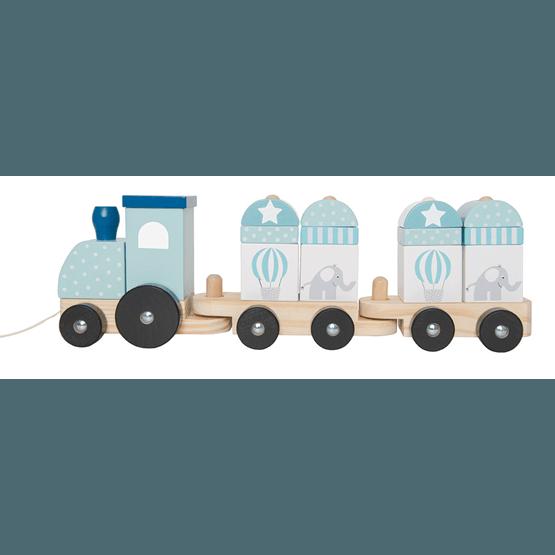 JaBaDaBaDo, Dragleksak tåg med klossar blå