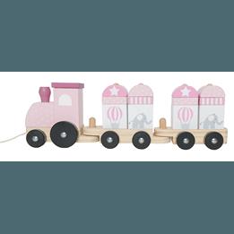 JaBaDaBaDo, Dragleksak tåg med klossar rosa
