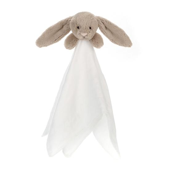 Jellycat - Bashful Beige Bunny Muslin Soother