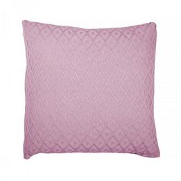 Jollein, Kuddöverdrag - Diamond knit 50x50 cm vintage rosa