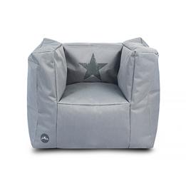 Jollein, Barnsoffa beanbag - faded star grå
