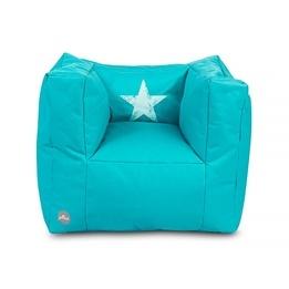 Jollein, Barnsoffa beanbag - faded star aqua