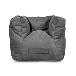 Jollein, Barnsoffa beanbag - canvas grå