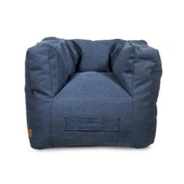 Jollein, Barnsoffa beanbag - canvas blå