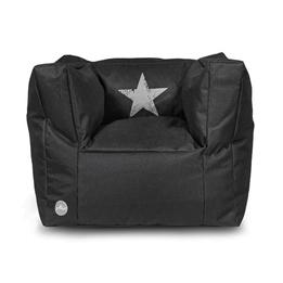 Jollein, Barnsoffa beanbag - faded star svart
