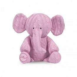 Jollein, Mjukisdjur Kabelstickad - Elefant Ljusrosa