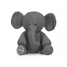 Jollein, Mjukisdjur Kabelstickad - Elefant Grå