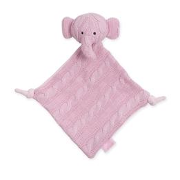 Jollein, Snuttefilt Kabelstickad - Elefant Ljusrosa