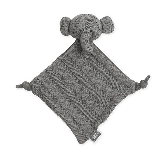 Jollein, Snuttefilt Kabelstickad - Elefant Grå