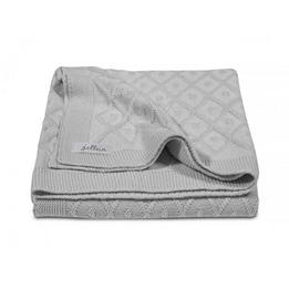 Jollein, Filt Diamond knit - 75x100 cm grå