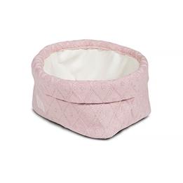 Jollein, Förvaringskorg - Diamond knit vintage rosa