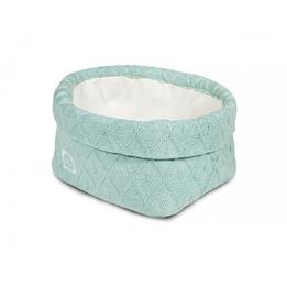 Jollein, Förvaringskorg - Diamond knit vintage grön