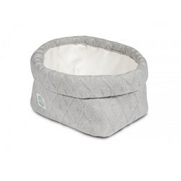 Jollein, Förvaringskorg - Diamond knit grå