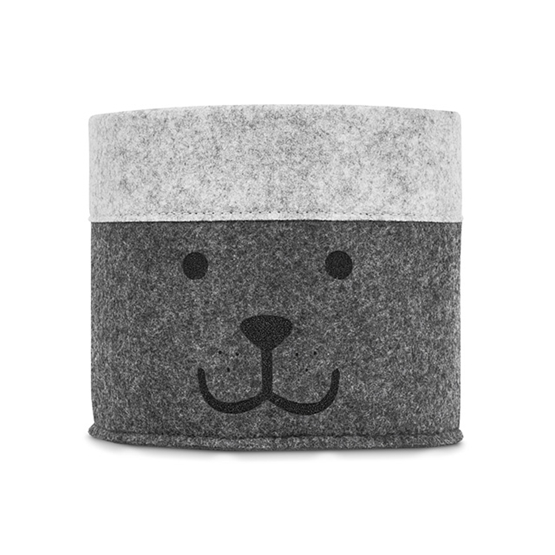 Jollein, Förvaringskorg - felt björn grå