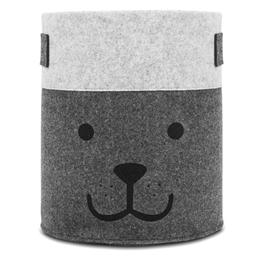 Jollein, Förvaringskorg - XL felt björn grå