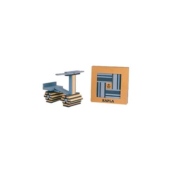 Kapla, Byggstavar Ljusblå & Mörkblå, 40 st