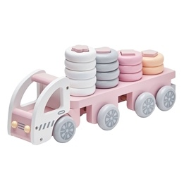 Kids Concept, Plocklastbil pastellrosa