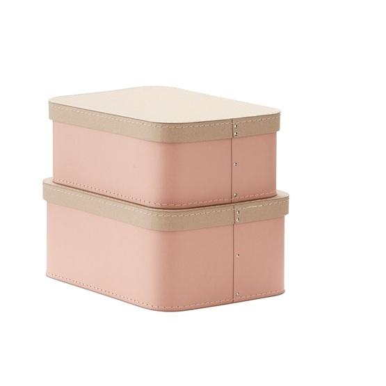 Kids Concept, Förvaringsbox 2-set rosa