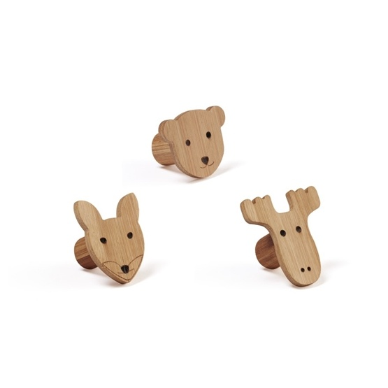 Kids Concept, Kid's Bamboo - Krokar 3 st