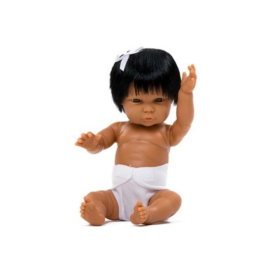 Docka Tiny flicka hår Sydamerika