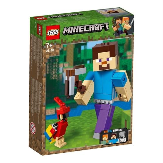 LEGO Minecraft 21148, BigFig Steve med papegoja