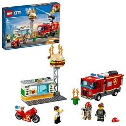 LEGO City Fire 60214 - Brandkårsutryckning till hamburgerrestaurang