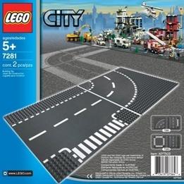 LEGO City - T-korsning och Kurva 7281
