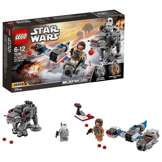 LEGO Star Wars 75195, Ski Speeder vs. First Order Walker Microfighters