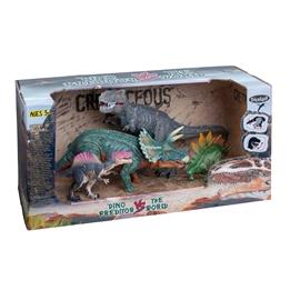Dino vs World Presentförpackning med dinosaurier (Grön)