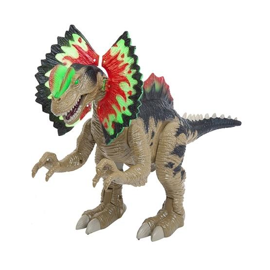Köttätande dinosaurie med ljud och ljus, 45 cm