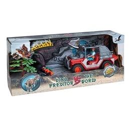 Lekset med dinosaurier, figurer & bil