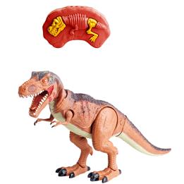Radiostyrd dinosaurie med ljus - brun