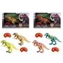 Radiostyrd dinosaurie med ljus - ljusbrun