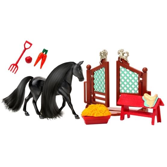 Royal Breeds, Häst med tillbehör - svart/rapp