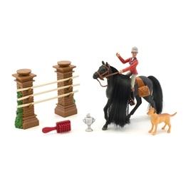 Royal Breeds, Häst med riddocka och hinder