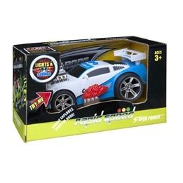 Rapid Speed, Street Racer ljud & ljus 16 cm - Polis