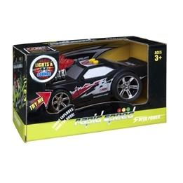 Rapid Speed, Street Racer ljud & ljus 16cm - Svart