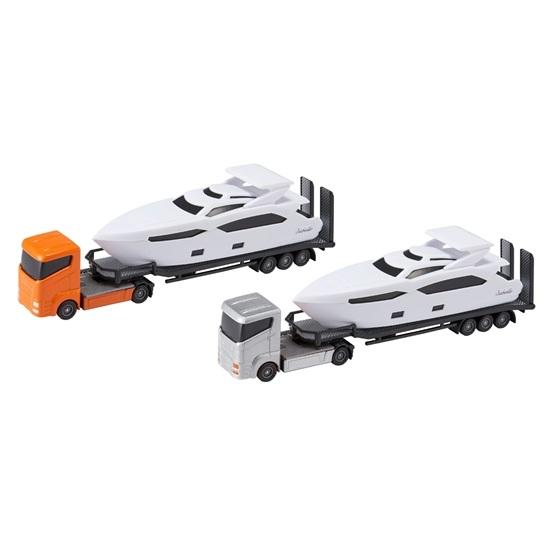 Teamsterz, Båttransport 30 cm med motorbåt - orange