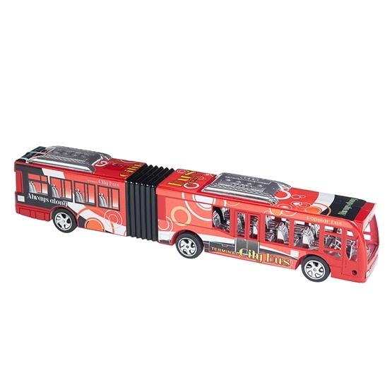 Ledbuss 35 cm - röd