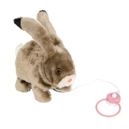 Skuttande kanin, 25 cm, brun