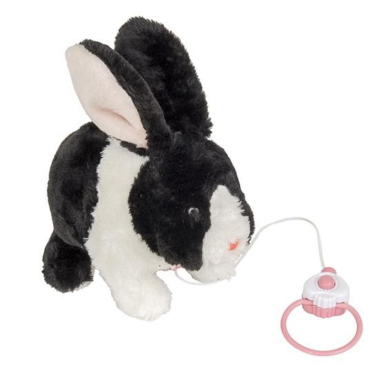 Skuttande kanin, 25 cm, svartvit
