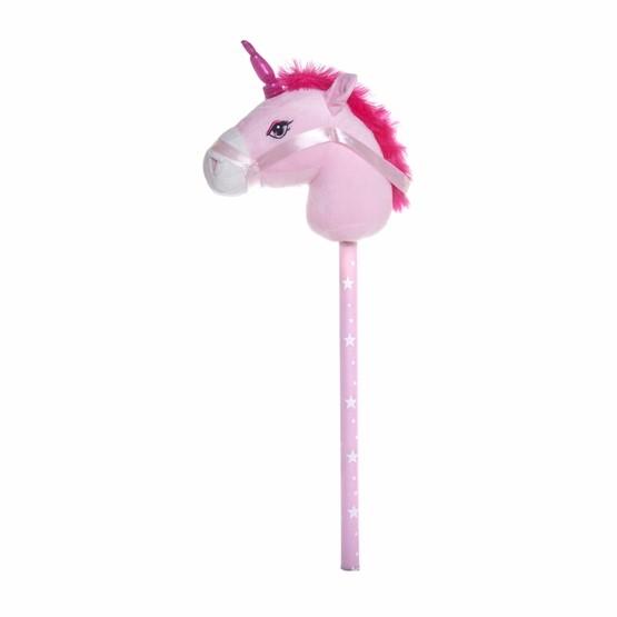 Övrigt lek Käpphäst med ljud - Enhörning rosa
