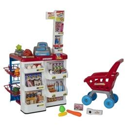 Supermarket kassa & kundvagn