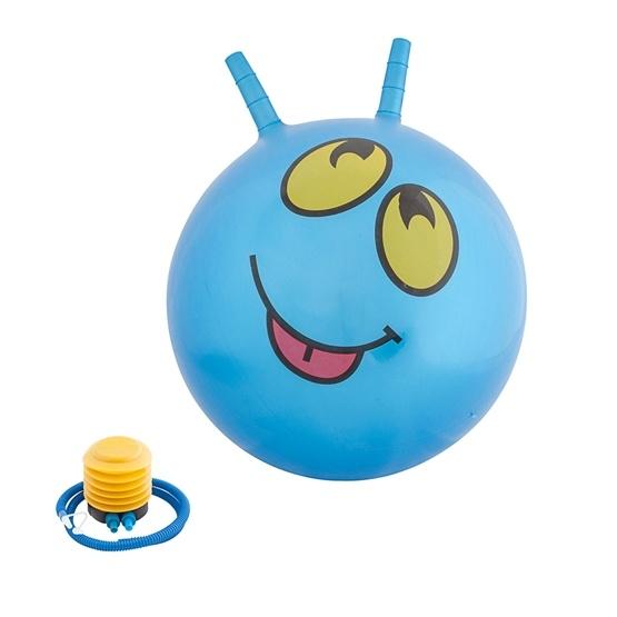 Hoppboll smiley, blå