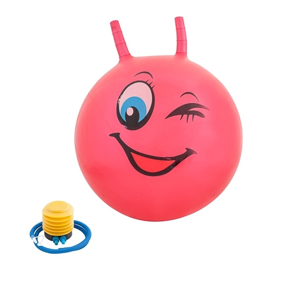 Hoppboll smiley, röd