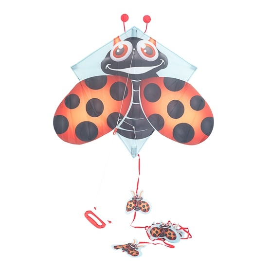 Pop-Up Kites, Flygdrake - Nyckelpiga 70 cm