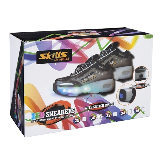 Skills on Wheels, LED Sneakers stl 30